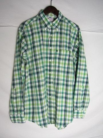 Lサイズ Brooks Brothers チェック ボタンダウンシャツ メンズ LARGE ブルックスブラザーズ グリーン 中古 ご予約品 蔵