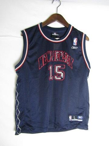 ネコポス可能 正規激安 Reebok リーボック 贈り物 NBA ニュージャージー ネッツ ヴィンス ゲームシャツ youth 中古 ♯15 L カーター