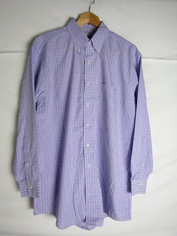 16 1 2-2 3 Lサイズ Brooks Brothers 中古 メンズ チェック ボタンダウンシャツ 正規認証品!新規格 ブランド買うならブランドオフ ブルックスブラザーズ ラベンダー LARGE