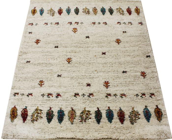 ベルギー製 絨毯 輸入カーペット 約5万ノット ウィルトン織り ギャベ柄 SHERPA COSY アイボリー シェルパコジー (K) 約200×290cm お買い物マラソン