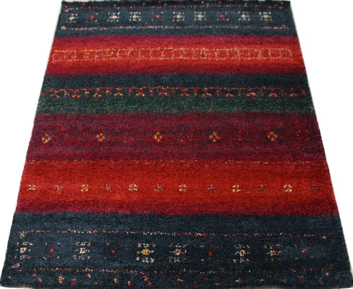 ベルギー製 絨毯 輸入カーペット 約5万ノット ウィルトン織り ギャベ柄 SHERPA COSY ネイビー シェルパコジー (K) 約120×170cm