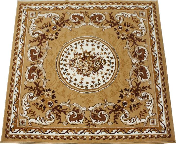 ベルギー製 輸入ラグ カーペット 激安 じゅうたん カーペット マット ラグマット 4.5畳 四畳半 4.5帖 ラグ オールシーズン 安い 約 240×240cm シラーズ 1123 (Y) ベージュ (ライトブラウン) 絨毯 ジュータン 茶色beige brown rug mat 引っ越し 新生活 スーパーSALE