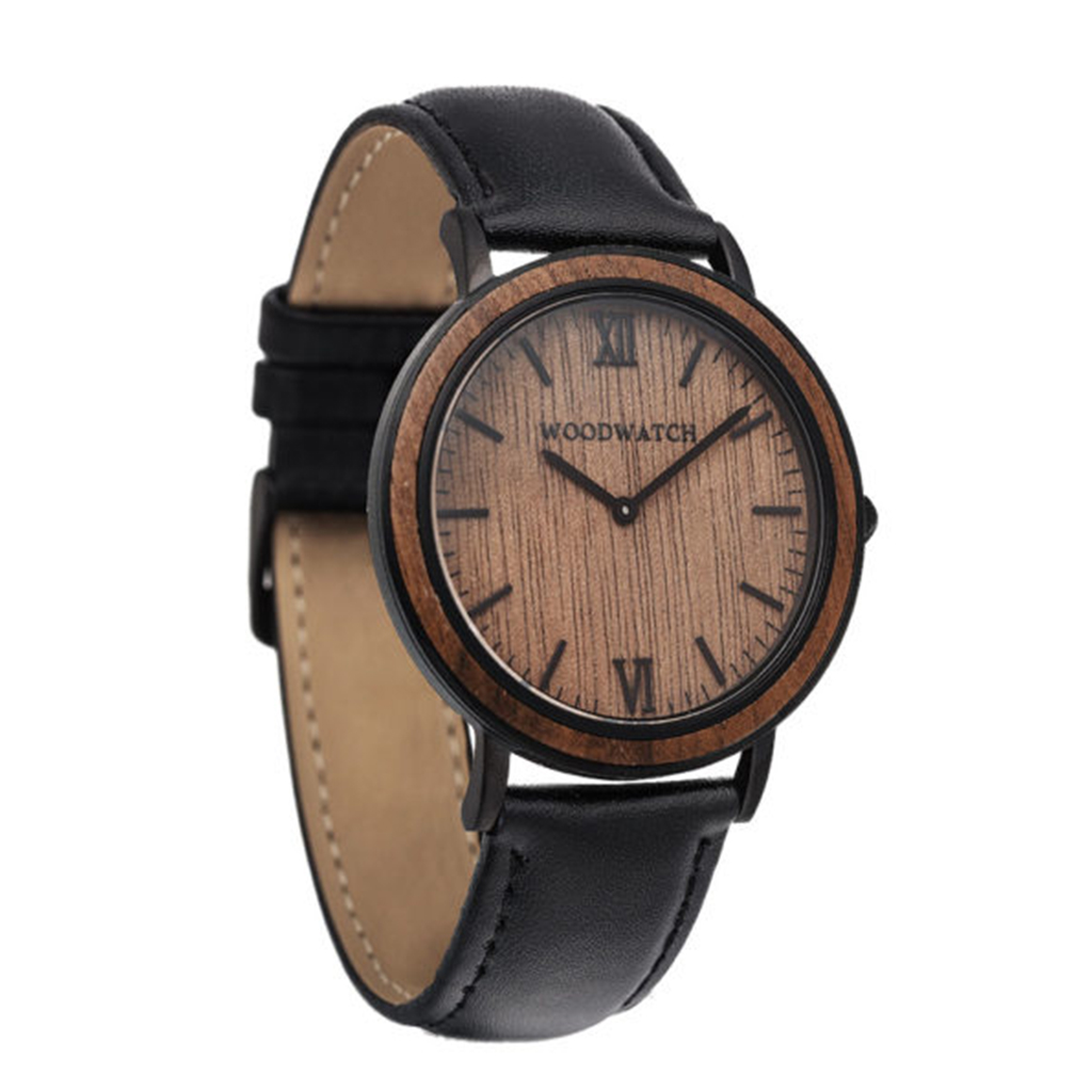 WOODWATCH ウッドウォッチMINIMAL 40mm Brown Walnut (Black)NL04【送料無料】