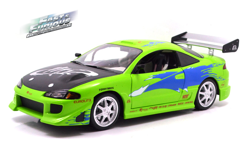 GREENLIGHT 1:18SCALE Fast & Furious Brian's 1995 Mitsubishi Eclipse ワイルドスピード 三菱 エクリプス ミニカー