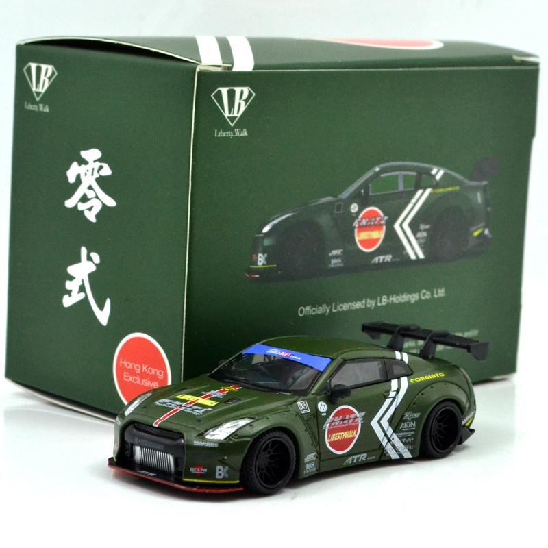 1:64 Scale Nissan GT-R R35 Japan Sakura LB Performance Liberty Walk Diecast Car