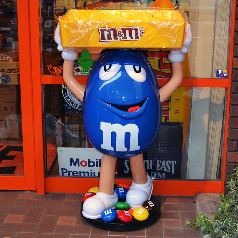 m&m's エムアンドエムズ M&Ms CHARACTER STORE DISPLAY (BLUE)エムアンドエムズ ストア ディスプレー (ブルー)別途送料かかります。