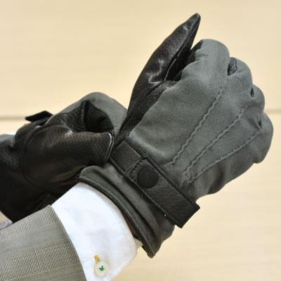 手袋 レザー 本革 イタリア製 ナポリ カシミヤライニング スエード 革手袋 革 手袋 レザー手袋 レザーグローブ ギフト バイカラー メンズ