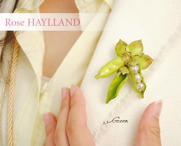 【ROSE HAYLLAND】ローズハイランド<beans petit> プチビーンズ・ナチュラルブローチ ブローチ ピンブローチ スカーフ留め レディース かわいい おしゃれ ギフト