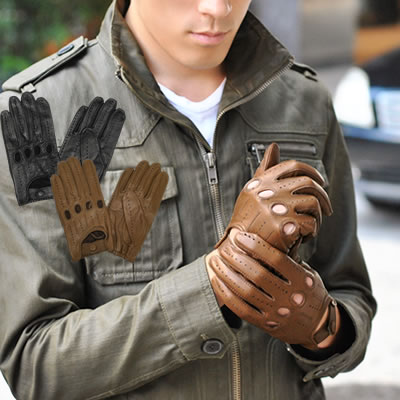 Diana Gentleman For Men Leather Gloves Driving Gloves With