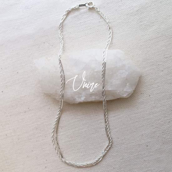 Unire silver Choker ウニレ チョーカー シルバー silver925【DIGDELICA】2連ネックレス