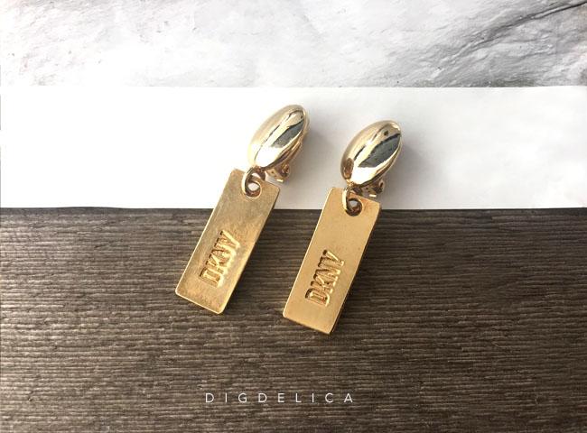 ダナキャランニューヨーク【DKNY】ヴィンテージイヤリングv1254 UESD中古品・VINTAGE・EARRING【DIGDELICA】ディデリカ