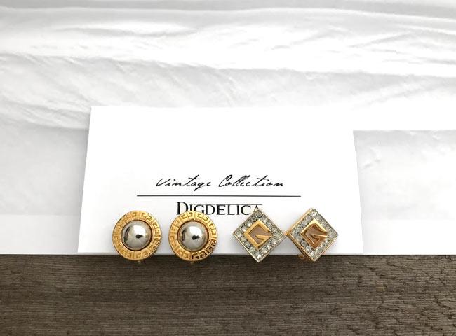 【GIVENCHY】ジバンシイ ヴィンテージセレクトイヤリング EARRING GOLD v1368【DIGDELICA】UESD中古品年代物 ジバンシー ディデリカ