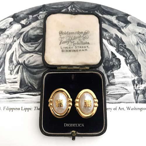 【GIVENCHY】ジバンシイ ヴィンテージパールイヤリング EARRING GOLD v1377【DIGDELICA】UESD中古品年代物 ジバンシー ディデリカ