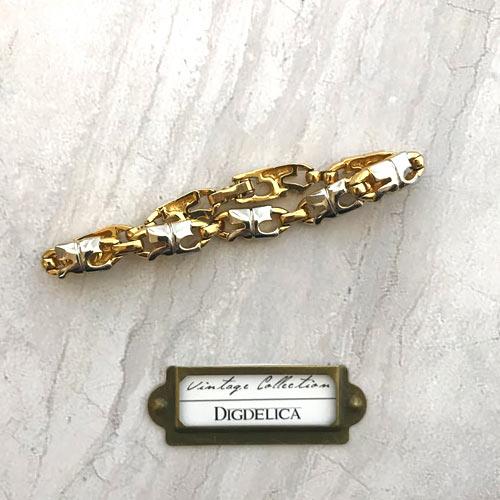 【Courreges】クレージュ ヴィンテージブレスレット コンビカラー ゴールド シルバー Vintage v1415【DIGDELICA】ディデリカ 年代物 UESD中古品