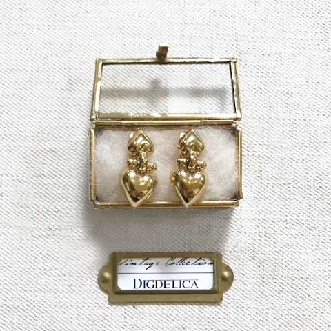 【GIVENCHY】ジバンシイ ヴィンテージハートイヤリング Vintage EARRING GOLD v1443【DIGDELICA】UESD中古品年代物 ジバンシー ディデリカ