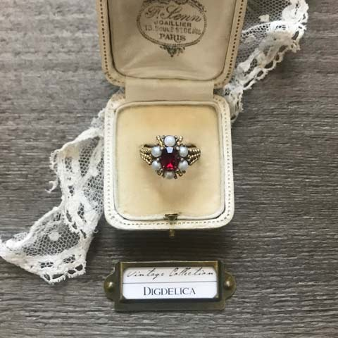 【Avon】エイボン ヴィンテージリング v1446 指輪【DIGDELICA】UESD中古品 VINTAGE RING