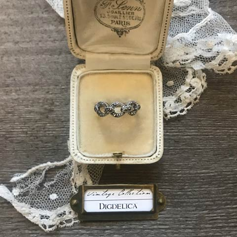 ヴィンテージ マルカジット ヴィクトリアン ループシルバーリング 指輪 vintage silver ring v1448【DIGDELICA】ディデリカ UESD中古品 SILVER925
