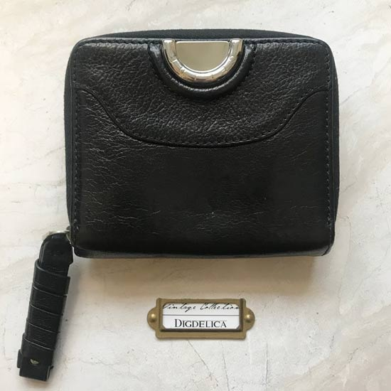 3c678129a1a1 Vintage CELINE 【CELINE】セリーヌ ヴィンテージレザーウォレット 財布 二つ折り財布 レザー 革 ブラック
