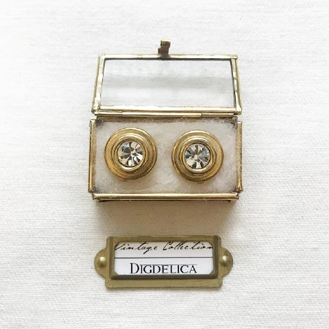 【GIVENCHY】ジバンシイ ヴィンテージジュエルイヤリング Vintage EARRING GOLD v1456【DIGDELICA】UESD中古品年代物 ジバンシー ディデリカ