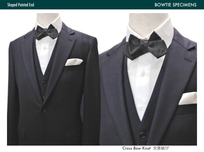 Bow tie men wedding ceremony ブランドシェイプドポインテッド end bow ties Pesci men BOWTIE SPECIMENS / hand end bow tie