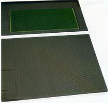 【送料無料】Vセット-S(グリーンマット+スタンスマット)グリーン