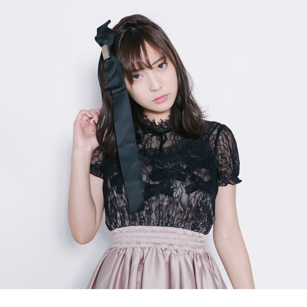 The gray pink black black M L Lady's dream prospects 0714 ◆ 7/24 shipment plan when a lei yard style camisole dress race blouse short sleeves flare dress is pretty in shear race ribbon dress summer