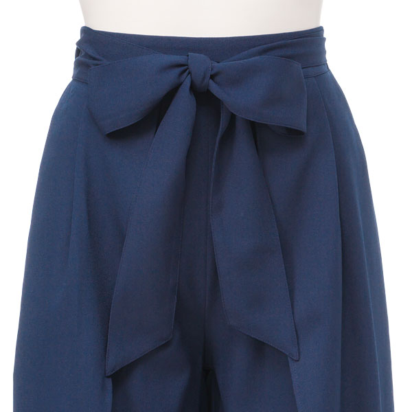 Chiffon plans Georgette waist rubber きれいめ adult sexy pink sax navy black blue black plain fabric M L Lady's dream prospects 0706 ◆ 8/3 shipment softly in front slit wide underwear summer with the waist ribbon