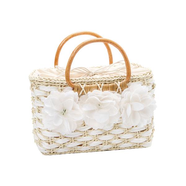 Original flower bag flower decoration holdings drawstring purse storing fashion off-white dark brown F Lady's dream prospects 0717
