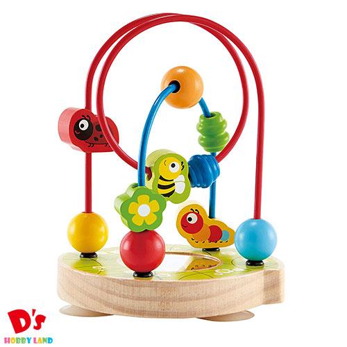 おもちゃ ベビー 知育玩具 指先遊び 並行輸入品 鏡 出産祝い ギフト 1才~ 再再販 ハペ くるくるビーズコースター E8031 カワダ Hape