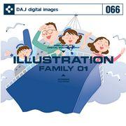 DAJ 066 ILLUSTRATION FAMILY 01【メール便可】