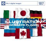 【特価】DAJ 187 ILLUSTRATION / WORLD'S FLAGS【メール便可】
