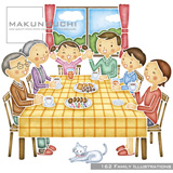 Makunouchi 162 Family Illustrations【メール便可】