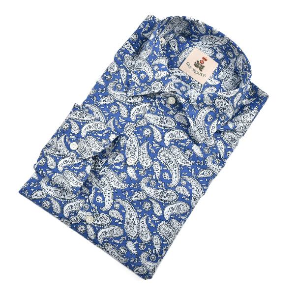 GUY ROVER ギローバー【'20S/S・国内正規品】【送料無料】 コットン ペイズリー イタリアンカラー シャツ