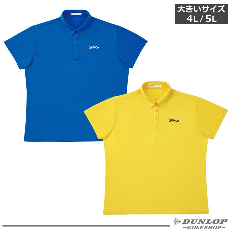 【ダンロップ】SRIXON(スリクソン)半袖シャツ シャドーチェック 9161005【大きいサイズ】【4L】【5L】【送料無料】