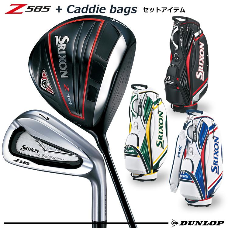 【ゴルフクラブセット】SRIXON(スリクソン) メンズ Z585 7本セット(Z585W#1(10.5°)、Z585I#5~9、PW) + キャディバッグ(GGC-S145)付【お買い得品】【ダンロップ】