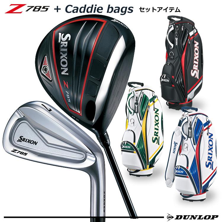 【ゴルフクラブセット】SRIXON(スリクソン) メンズ Z785 7本セット(Z785W#1(9.5°)、Z785I#5~9、PW) + キャディバッグ(GGC-S145)【お買い得品】【ダンロップ】