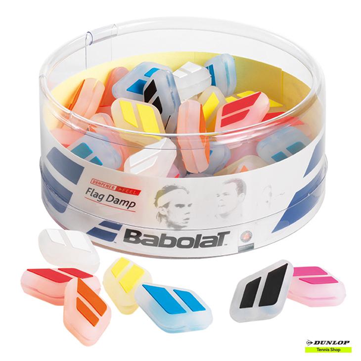 テニス【バボラ】BABOLAT 振動吸収パーツ フラッグダンプ×50(BA700033)