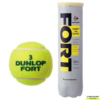 テニス【ダンロップ】DUNLOP フォート 硬式(プレッシャーライズドボール) 4ヶ入缶/1ケース(30缶)