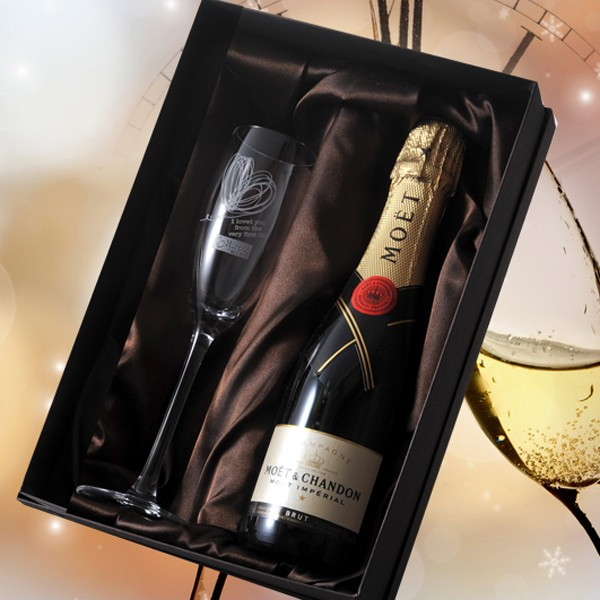 MOET et Chandon white 375 ml & glass of champagne celebrations set (/ gifts / gift set / 内 祝 I / marriage 内 祝 I / wedding / return / gifts ...