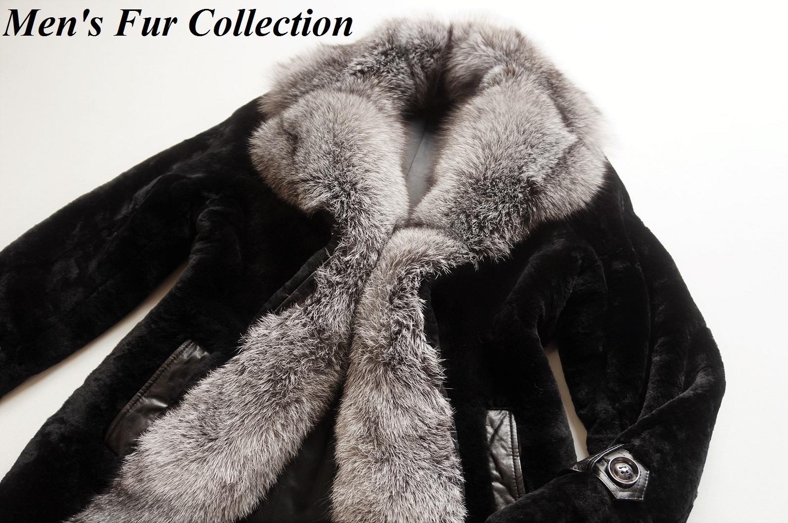 3743b2fa7a5e2 In blue Frost Fox fur X shared lamb mouton fur rial fur coat mouton coat  men ● crocodile crocodile / Armani / Gucci / Loewe / ブリオーニ / chrome Hertz /  ...