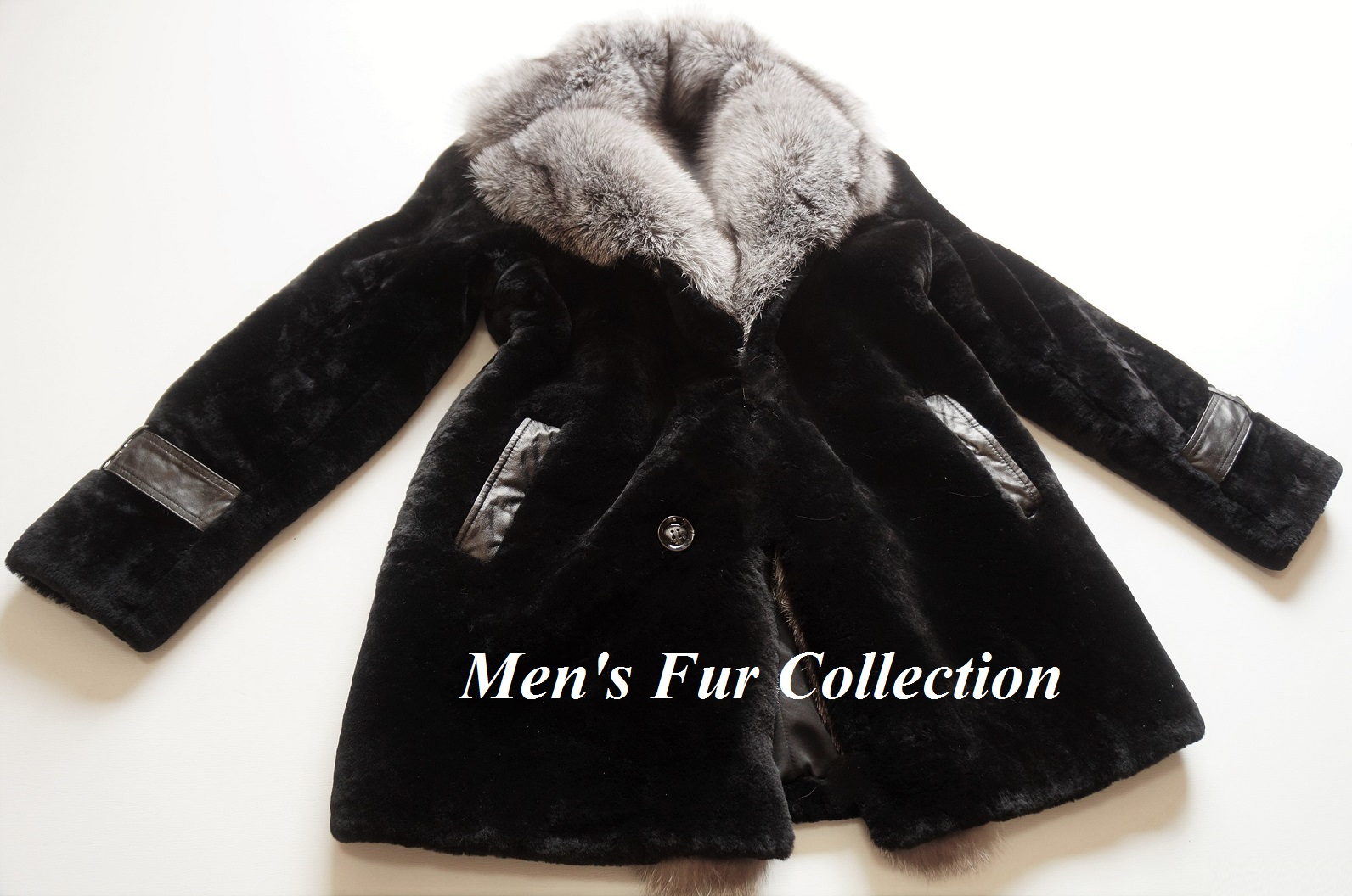 410e64f96cda1 In blue Frost Fox fur X lamb mouton genuine article fur coat fur coat men  mouton coat ● crocodile crocodile / Armani / Gucci / Loewe / ...