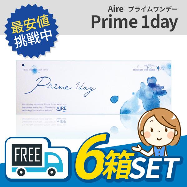 【送料無料】Prime1day プライムワンデー 6箱セット (1箱30枚入) コンタクトレンズ