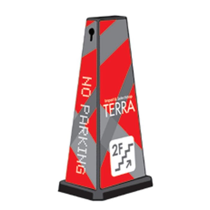 ミセルメッセージポールワイド NO PARKING / 案内 店舗表示 立て看板 スタンド看板 /ot-550-750-W009