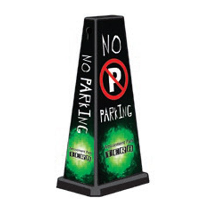 ミセルメッセージポールワイド NO PARKING / 駐車禁止 店舗看板 /ot-550-750-W042