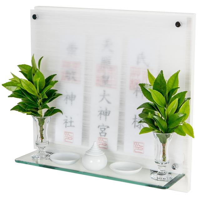 神棚 モダン 壁掛け パールホワイト Neo110G 本日の目玉 シンプル デザイン 国産 お供え 買い取り