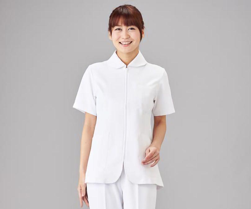 【病院・医療】レディスジャケット ホワイト S-3L