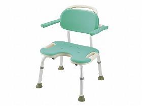 リッチェル やわらかシャワーチェア肘掛付ワイド 送料無料[介護 ケア サポート 介護用品 通販 風呂 椅子 いす]