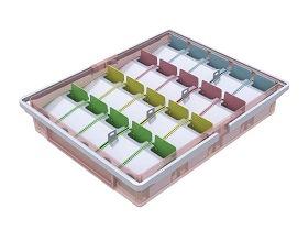 山崎産業 投薬箱(取手付) 20コマセット[介護 ケア サポート 介護用品 通販 忘れない]