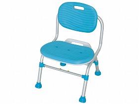 幸和製作所 折りたたみシャワーチェア テイコブSC03 背付き ブルー 送料無料[介護 ケア サポート 介護用品 通販 風呂 折りたたみ 椅子 いす]