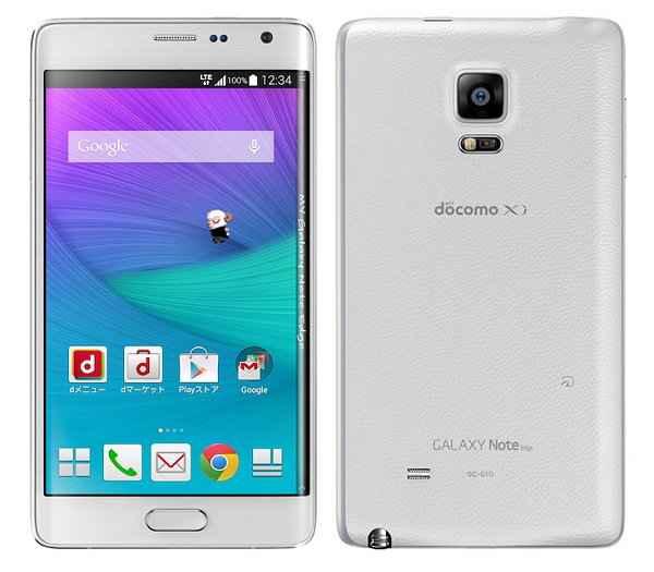 白ロム 中古 SIMフリー docomo Galaxy Note Edge SC-01G ホワイト 本体のみ [Bランク]